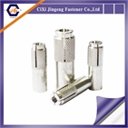Expandable White Electroplated and Grooved Driving SS304 SS316 PEG Cixi Anchor